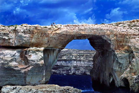 The famous Azure Window just off the coasts of Malta and Gozo    Editorial