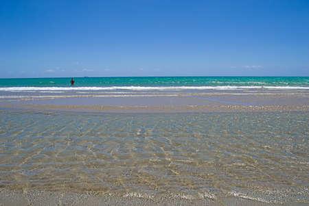 Beautiful view of the Sicilian Coast at Pozzallo, Italy   Stock Photo