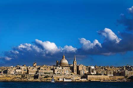 View of Valetta, Malta taken from Sliema