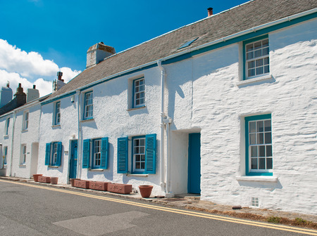 Row of holiday homes in St Mawes Cornwall