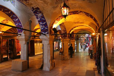 bazar: The Grand Bazar in Istanbul, Turkey