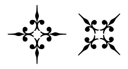 ornamental black decotative elements Stock Vector - 1665459
