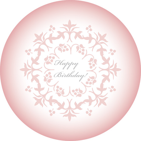 pink decorative holiday card with flower Stock Vector - 1665480