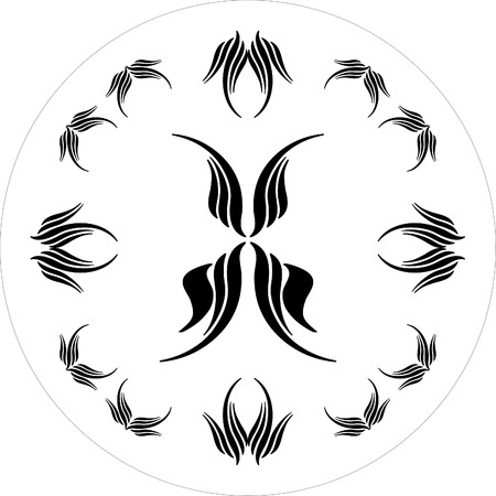 ornamental elements black and white Stock Vector - 1665464