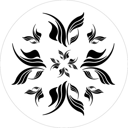 ornamental elements black and white Stock Vector - 1665463
