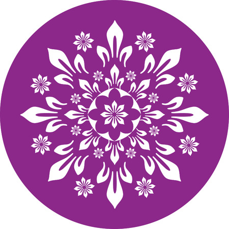 round color with ornament flower Stock Vector - 1665486