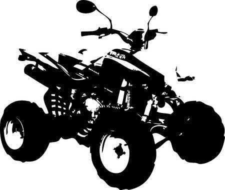 quad: All Terrain Vehicle isolated on white background