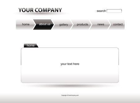 Website white layout template Vector