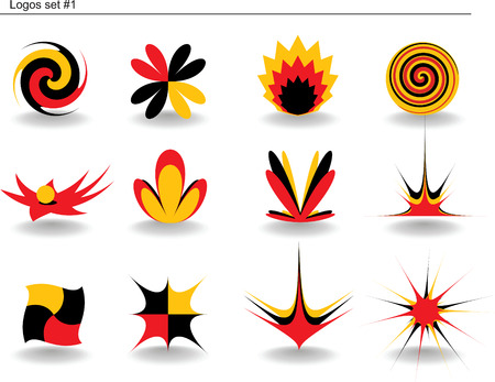 Abstract vector logos set #1 Vector