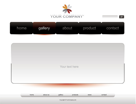 Website white template Vector