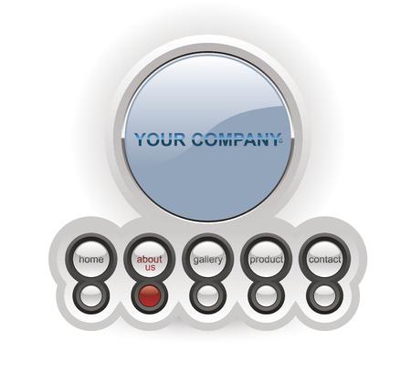 hightech: Website template Illustration