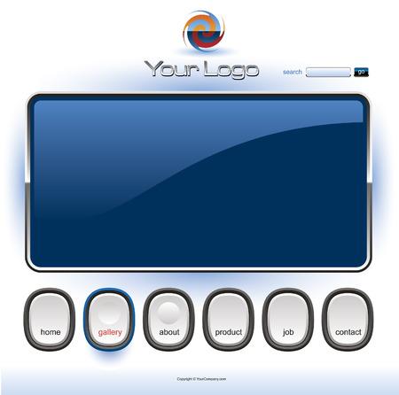 website header banner: Website template Illustration
