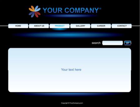 Website black button bars set template Stock Vector - 3522086