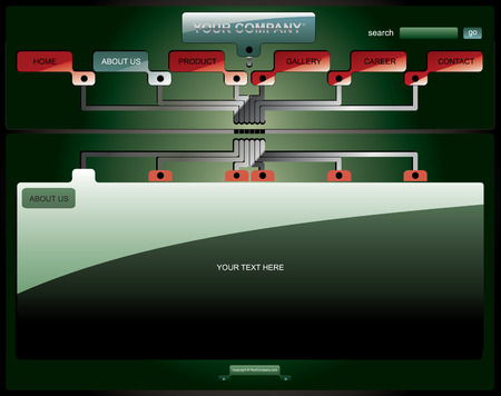 Electronic board website template Vector