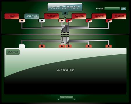 electronic board: Electronic board website template