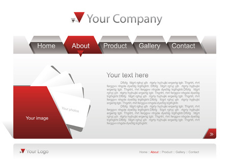 Website template Illustration