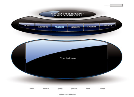 rollover: UFO website template