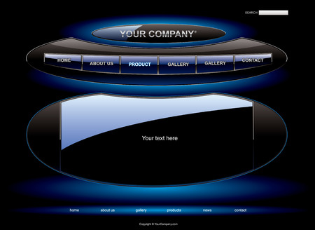 UFO website template Vector