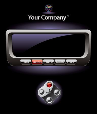 Console website template Vector