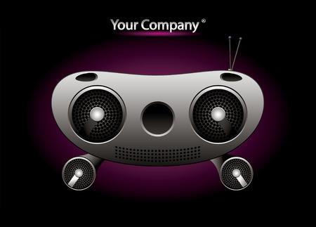 sub menu: Radio music editable vector