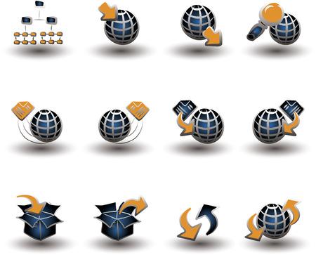 Internet & Navigation 1 icon set Vector