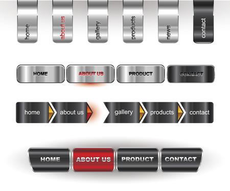 Metallic editable website buttons