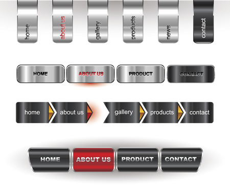 Metallic editable website buttons