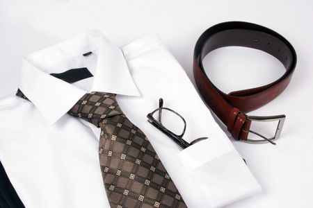 Detail of a Business Man Suit with brown tie Stock Photo - 4211262