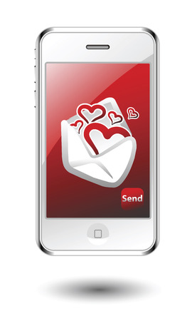 With love SMS Vector