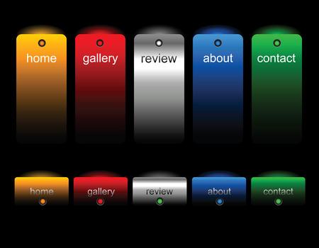 Editable website buttons Vector