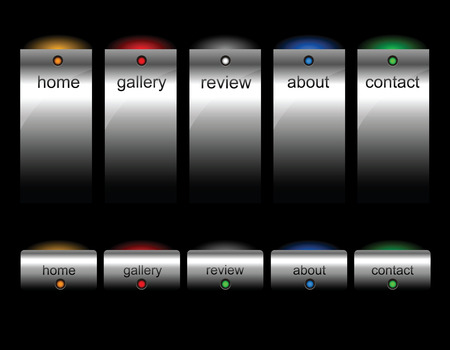 Editable website buttons