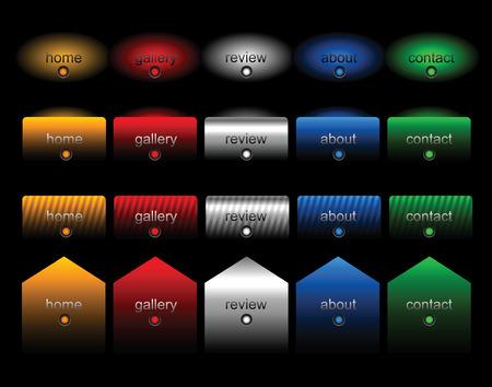 Editable website buttons Stock Vector - 4431842