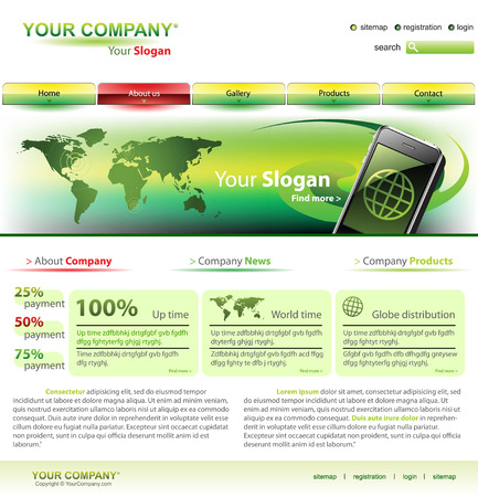 Vector editable website template Stock Vector - 4532794