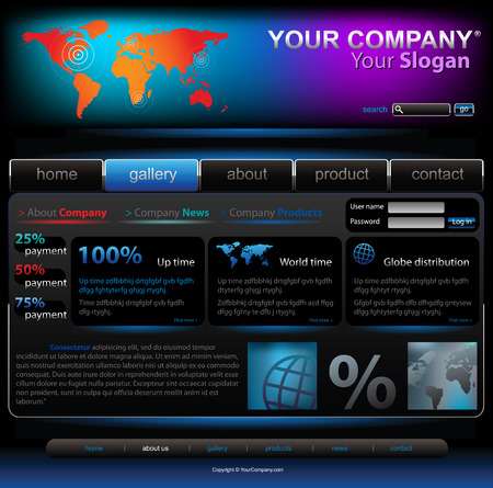 Vector editable website template Vector