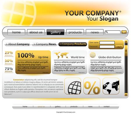 hightech: Vector editable website template