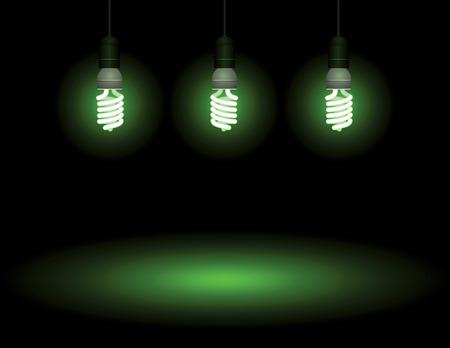 Energy saving fluorescent light bulb - editable vector Stock Vector - 4742111
