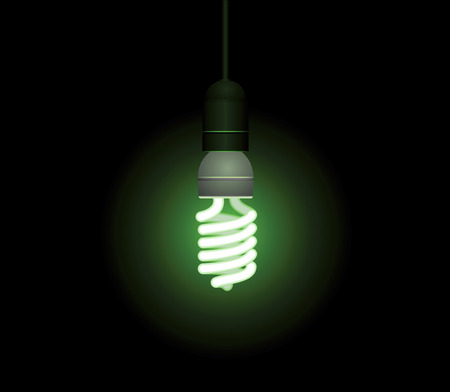 Energy saving fluorescent light bulb - editable vector Stock Vector - 4742108