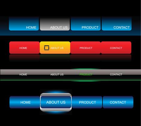 rollover: Editable website vector buttons