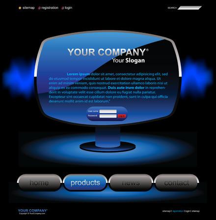 rollover: Vector editable website template