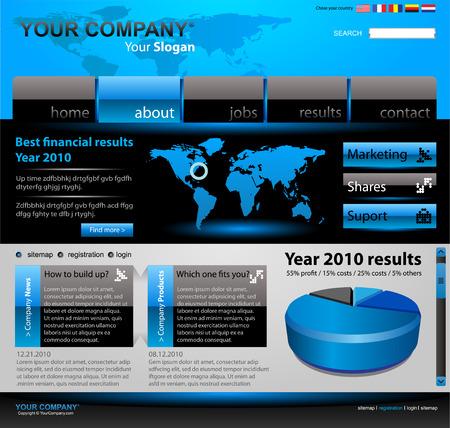 Vector editable website template Stock Vector - 4985021