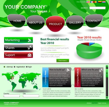 Vector editable website template Stock Vector - 5042425