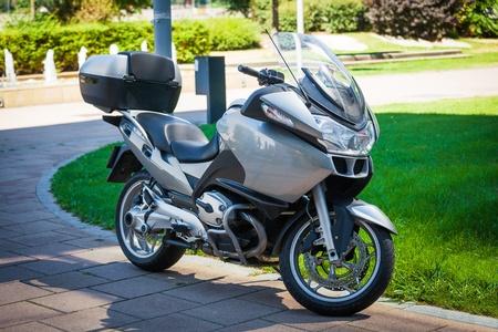 motor cycle: Modern motorbike parked