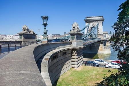 szechenyi: Sz?chenyi Chain Bridge en Budapest, Hungr?a