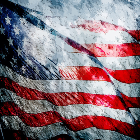 American flag grungy vintage textured background