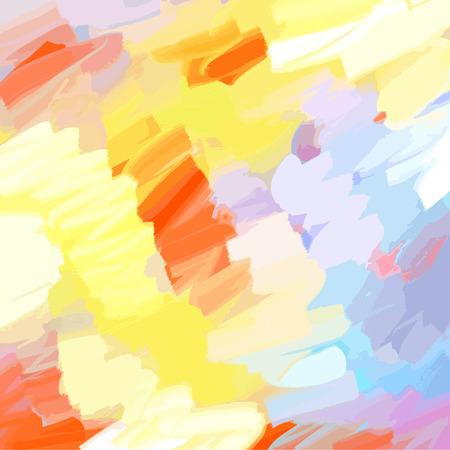 pastel tone: Oil Painted Warm colors background Illustration