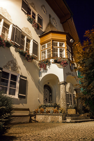 rathaus: St. Gilgen townhall at night, Austria