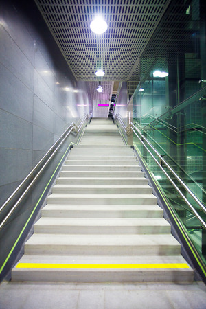 Staircase inside a public metro station, Vienna photo