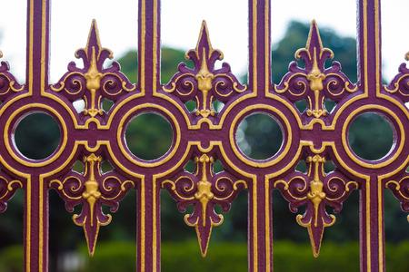 puertas de hierro: Heldenplaz valla metálica valla decorada en Viena, Austria