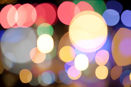 citylight: Abstract circular bokeh background of Citylight Stock Photo