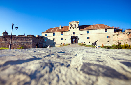 cetatuia: Brasov, Romania - November 7, 2012: Old fortress Cetatuia on a sunny autumn day, Brasov, Romania Editorial